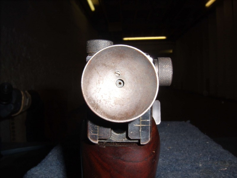 Vickers rearsight seen from behind