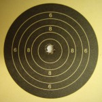 Perfect shot with a Vickers BSA Martini Jubilee at 25yds indoors