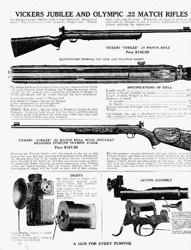 Original advert for the Vickers BSA Martini Jubilee rifle