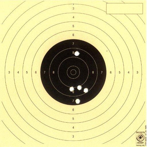 Air Pistol target, August 31 2010
