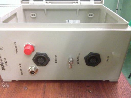 Control box, target side, main panel