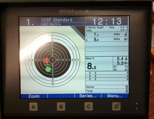 Mark's first shot on the new targets