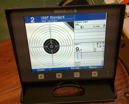 Mark's first pistol shot on the new targets