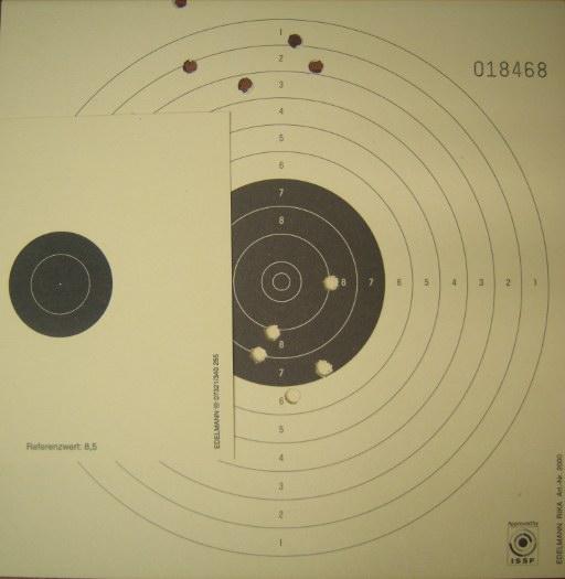 IZH-61 Air Rifle test card