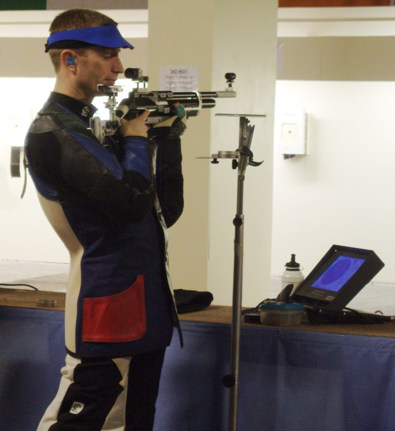 Ray Kane, winner of the Air Rifle event