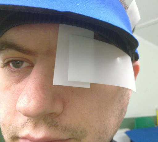 DIY blinder, front view