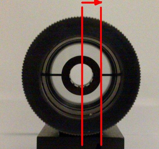 Plumbline movement against foresight during pre-aim