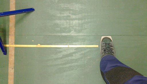 Toe position and reference line